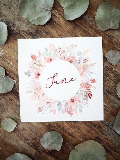 "June Wreath 5x5""  8x8"""