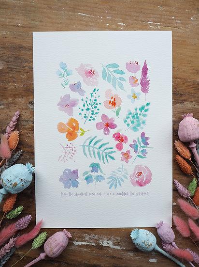 Sherbet Bouquet Print A4 or A3