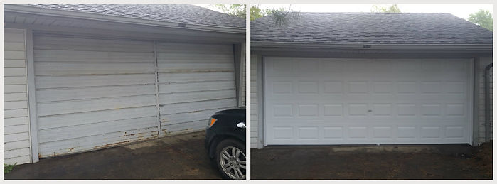 before an after pictures of garage doors