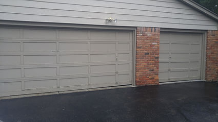 old wood garage door