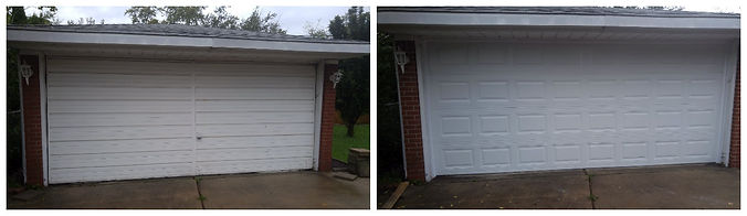 before and after pics of garage doors