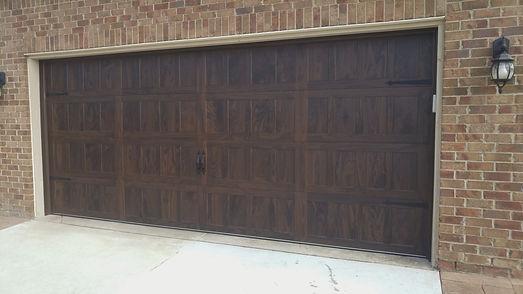 Dark Walnut Shaker Panel Garage Door