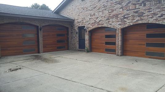 Cedar accents planks C.H.I garage doors