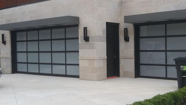 Clopay avantti collection aluminum full view garage doors