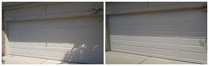 before and after garage door pictures