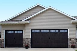 Dark Walnut Garage Door