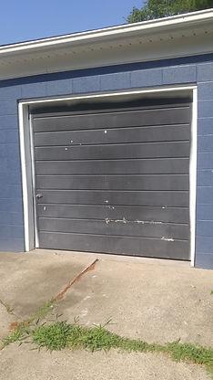 old one piece garage door