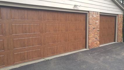walnut clopay gallery collection garage door