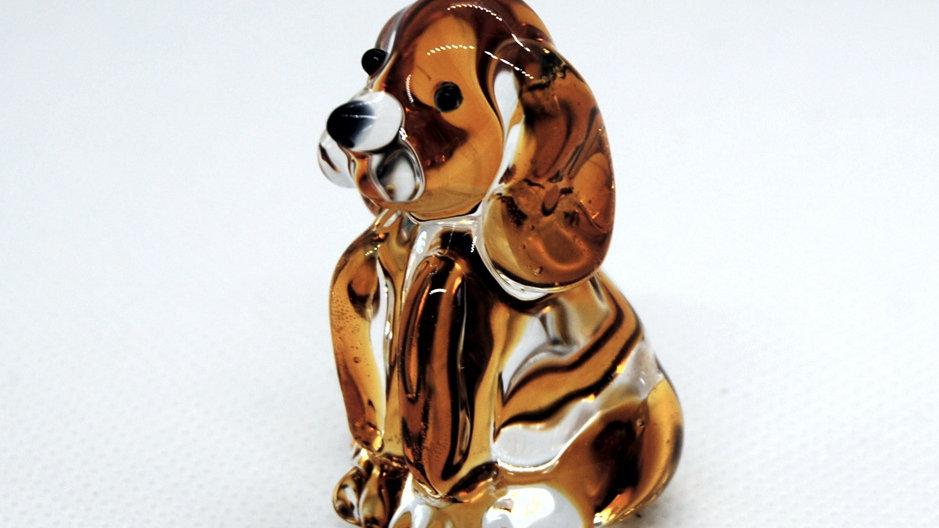 Hund aus Glas, mundgeblasen