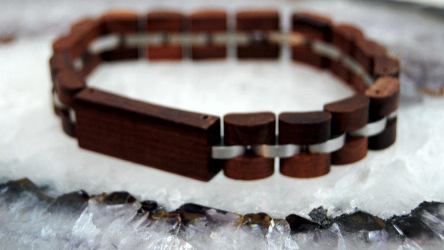 Holzarmband Sandelholz mit Namensgravur