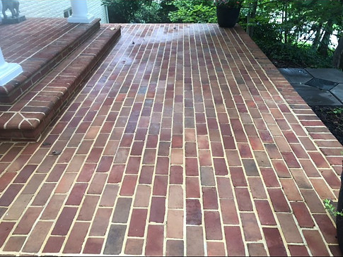 Brick Patio after BV cleaning