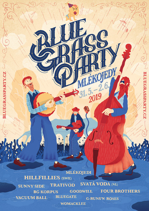 bluegrass party poster