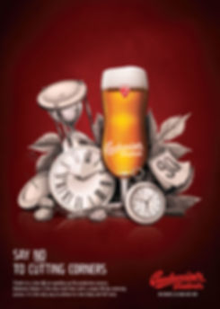 budweiser budvar – print ad illustration