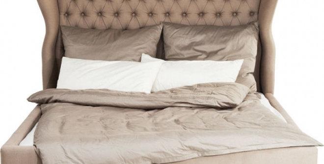bed light brown 160×200,180×200 ダブルベッド 高級輸入ベッド