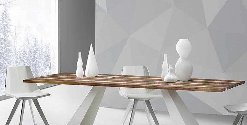 イタリア製 無垢天板  ダイニングテーブル VE WHITE RIVER   輸入ダイニングテーブル