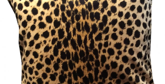 【在庫処分SALE★50%OFF】 VELVET CUSION luxor02 Cheetah Beige 60cm角