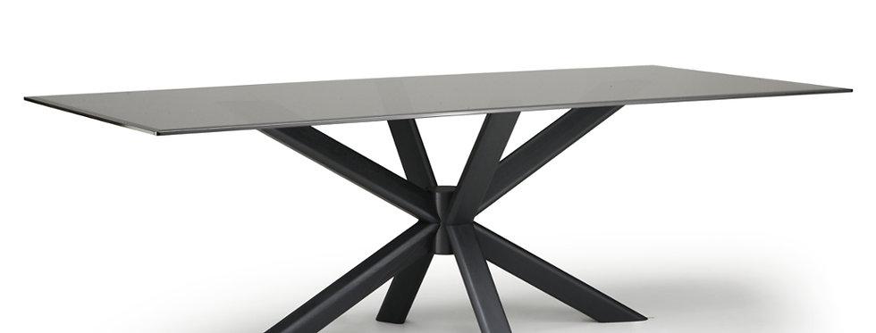 【イタリア製】ガラス天板ダイニングテーブル