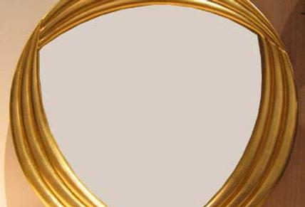 【在庫処分SALE】イタリア製 金箔塗装円形ミラー