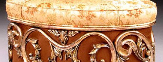 【在庫処分SALE】Chair NO.13-1847【ブラウン×ベージュ】 オットマン