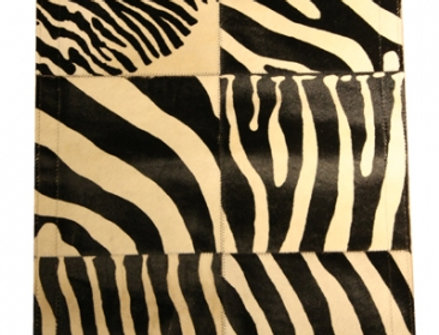 【在庫処分SALE】Printed cow skin CARPET Zebra No.11-483