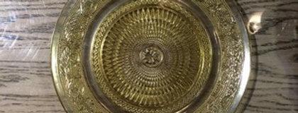 ガラス製 ゴールドプレート 直径20cm、25cm【m051-42s】【m051-42m】