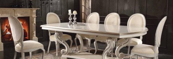 イタリア高級ダイニングテーブル 伸長式テーブル/エクステンションテーブル 149 輸入ダイニングテーブル