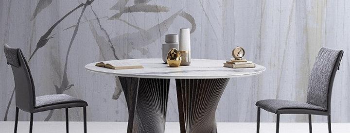イタリア製 セラミックダイニングテーブル 円形