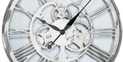 ~シルバーの大きな壁掛け時計~Silver Big Wall Clock