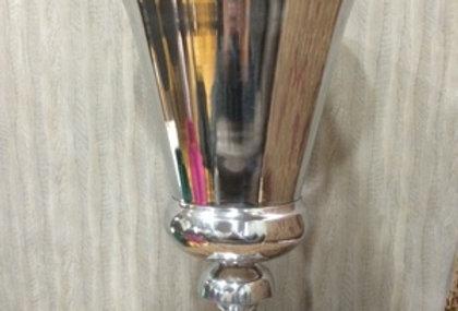 【在庫処分SALE】ネオクラシックなシルバーのトロフィー型ベース【flower bace/フラワーベース/花瓶】シルバー/銀