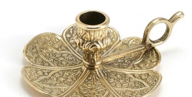 イタリア製真鍮燭台