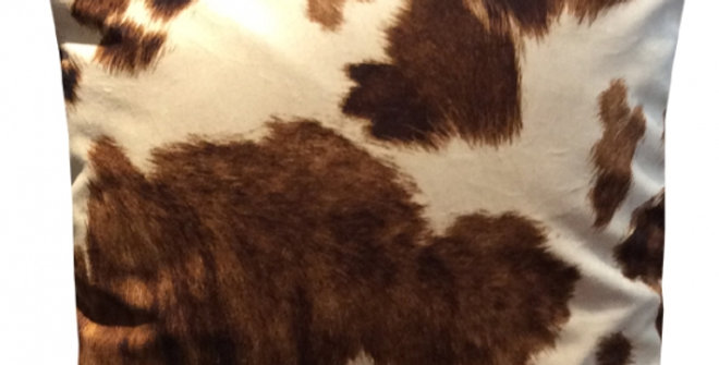 【在庫処分SALE★50%OFF】 VELVET CUSION asmar03 Cow 60cm角