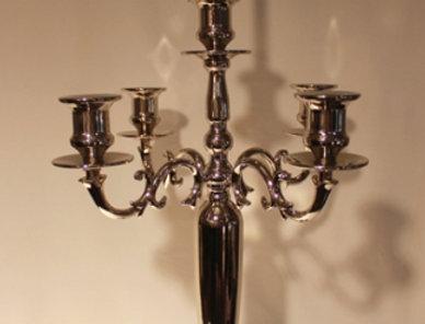 背の高い5灯キャンドルホルダー