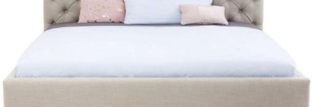 bed light beige 160×200,180×200 ダブルベッド 高級輸入ベッド