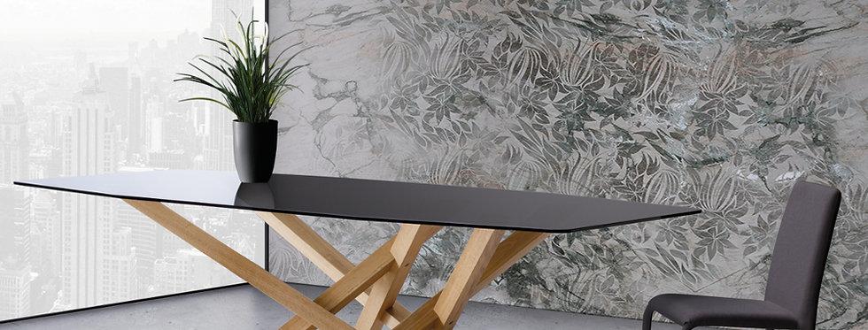 イタリア製 ガラス天板ダイニングテーブルCR