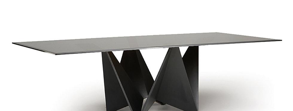 イタリア製 ガラス天板 ダイニングテーブル