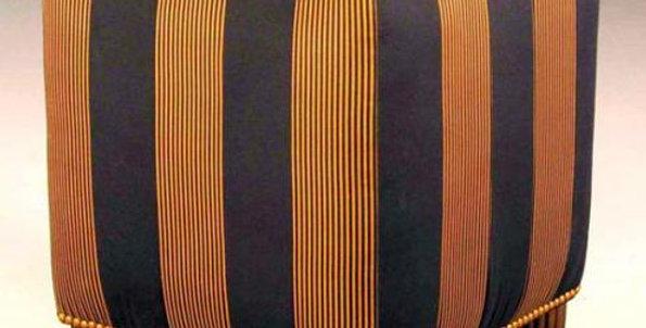【在庫処分SALE】オットマンNo.1409【ゴールド×ネイビー】