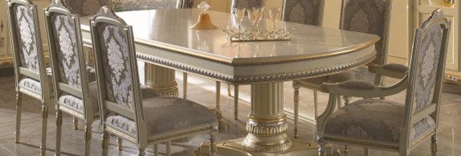 イタリア高級ダイニングテーブル 伸長式テーブル/エクステンションテーブル 2710 輸入ダイニングテーブル