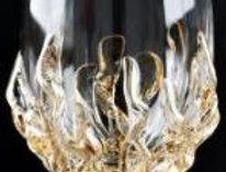 6-0220 イタリア製ハンドメイドブランデーグラス 【ゴールド】