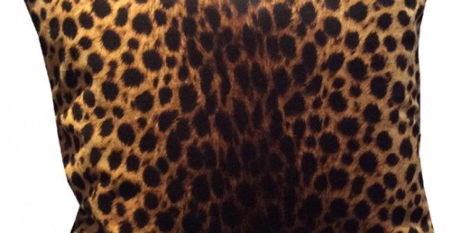 【在庫処分SALE★50%OFF】 VELVET CUSION luxor04 Cheetah Brown 45cm角