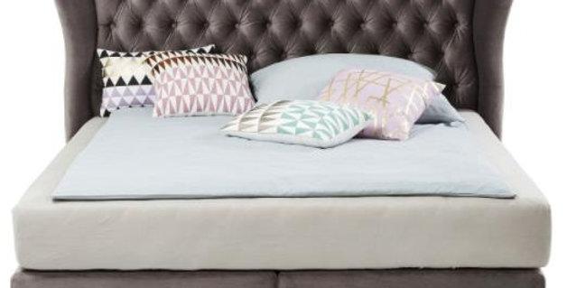bed light grey 160×200,180×200,200×200 ダブルベッド 高級輸入ベッド