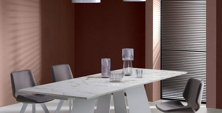 【送料無料】イタリア製 セラミックダイニングテーブル伸長式 KO 180cm→220cm→260cm