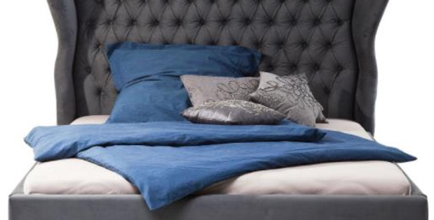 bed Dark grey 160×200,180×200,200×200 ダブルベッド 高級輸入ベッド