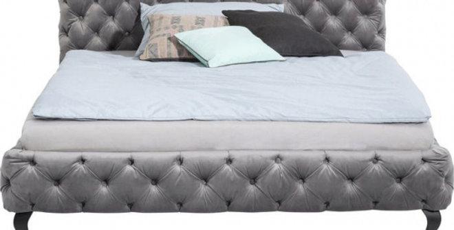bed Grey 160×200,180×200,200×200 ダブルベッド 高級輸入ベッド