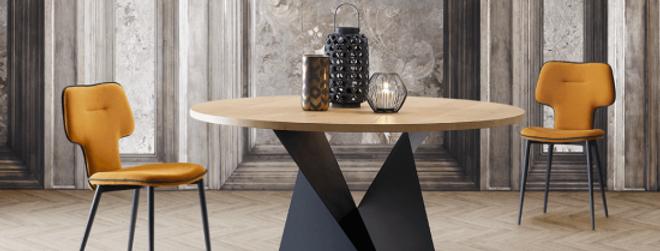 イタリア製 伸長式ダイニングテーブル 147→207cm 輸入ダイニングテーブル