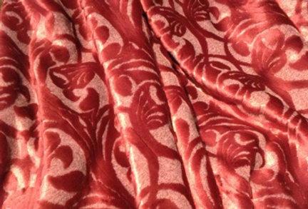 【在庫処分SALE】ベッドカバー/スプレッド オリエンタル柄 レッド