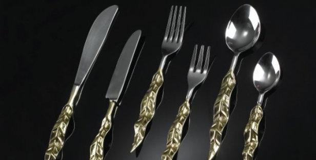 Leaf Cutlery ゴールド×シルバー
