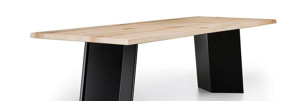 イタリア製 無垢天板  ダイニングテーブル PL 伸長式 輸入ダイニングテーブルの複製