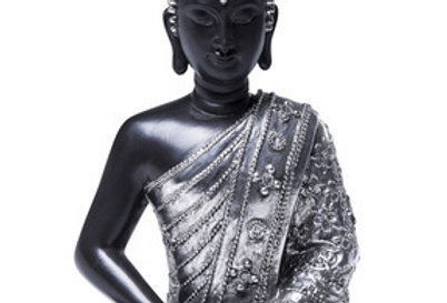 【在庫処分SALE】Antique Silver and Black Buddha Figure