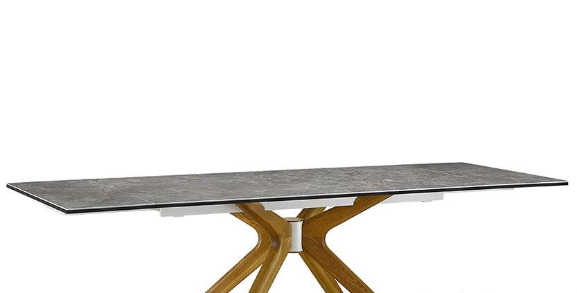 【送料無料】イタリア製 セラミックダイニングテーブルRO 伸長式 W180→220→260