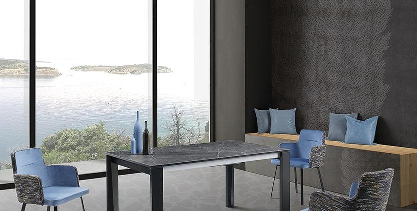 イタリア製 セラミックダイニングテーブル AR 伸長式
